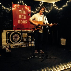 Nick Vogt performs at WUSC's February Acoustic Night at Red Door Tavern.